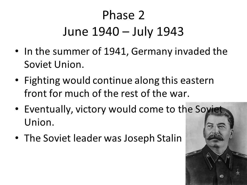 In the summer of 1941, Germany invaded the Soviet Union.