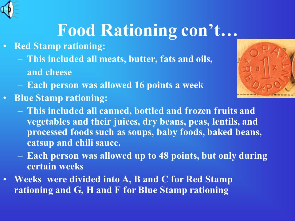 Food Rationing Rationings occurred because there wasn't enough products for both the home front and across seas for our troops. The people who made th