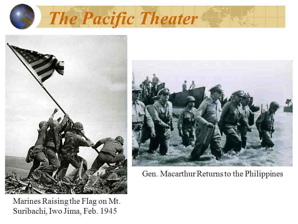 The Pacific Theater Marines Raising the Flag on Mt.
