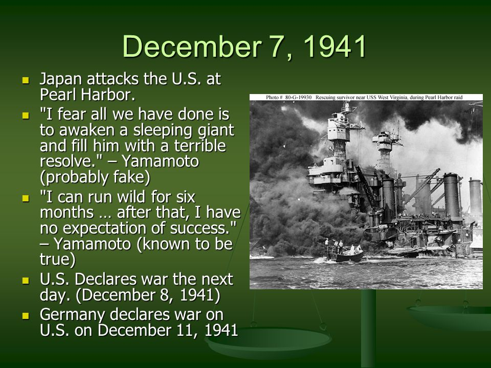 Sea & Air Battles German u-boats threatened shipping German battleship 'Bismarck' Allies were winning the battle for the Atlantic Allied air offensive directed at German industry weakened the will of German civilians