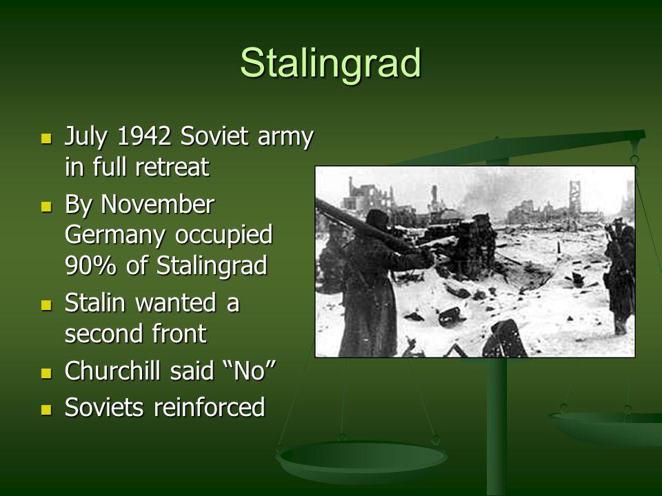 Stalingrad (cont) Nov.