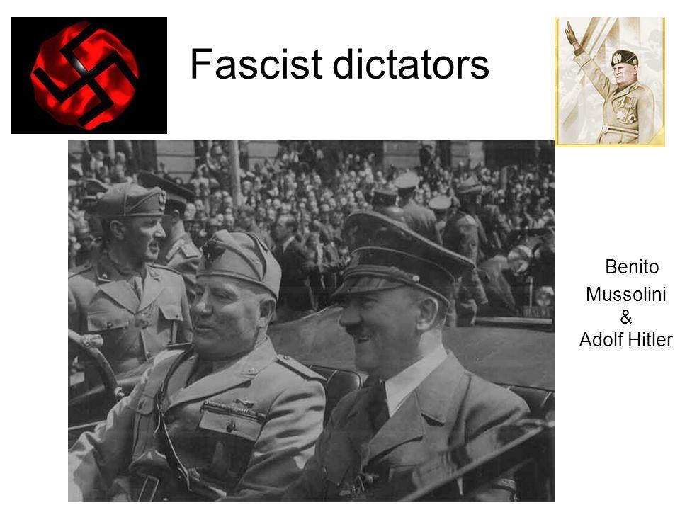 Fascist dictators Benito Mussolini & Adolf Hitler