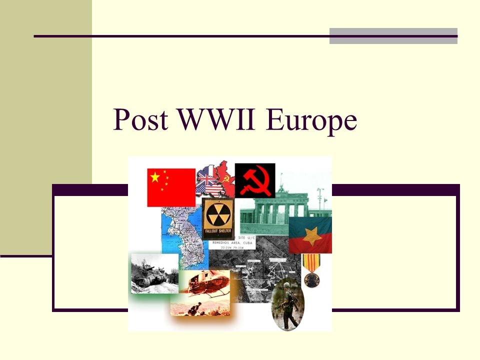 Potsdam Conference-Summer 1945 Temporarily divide Germany into 4 zones Divide Berlin Rid Germany of any remnants of Nazi party Reparations Soviets would receive largest share Soviets wanted a buffer zone of friendly governments in Eastern Europe