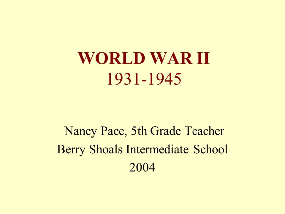 World War II The Big One Causes of World War II Friends and Enemies United States Gets Involved End of the War Gains and Losses