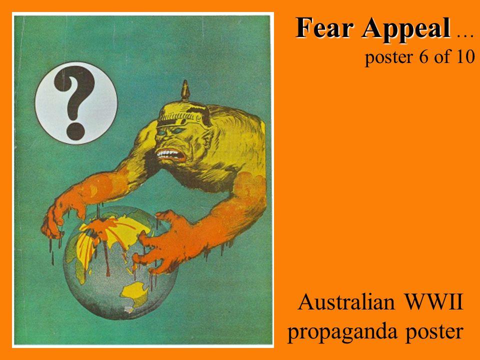 Fear Appeal Fear Appeal … poster 6 of 10 Australian WWII propaganda poster