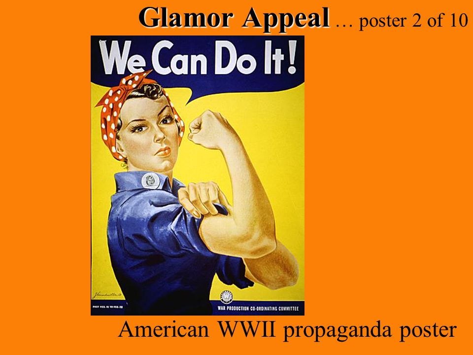 Glamor Appeal Glamor Appeal … poster 2 of 10 American WWII propaganda poster