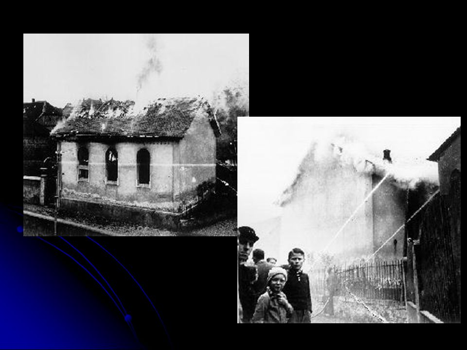 Kristallnacht- 1938 A massive, coordinated attack on Jews throughout the German Reich on the night of November 9, 1938, into the next day, has come to be known as Kristallnacht or The Night of Broken Glass .