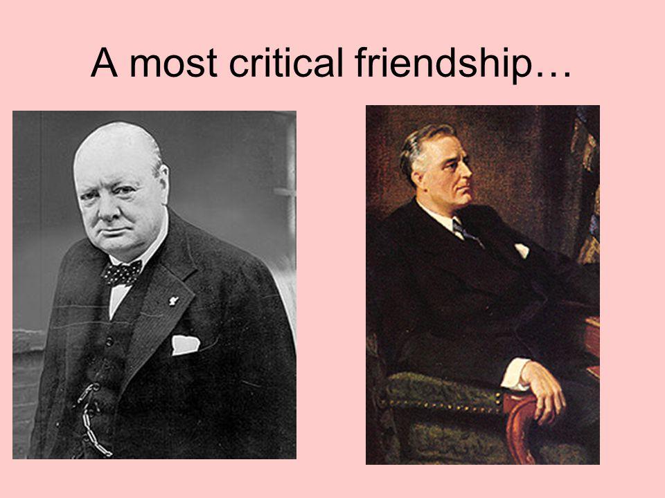 A most critical friendship…
