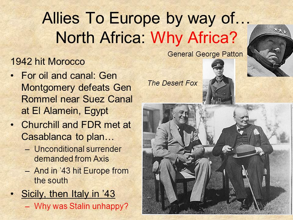 Allies To Europe by way of… North Africa: Why Africa.