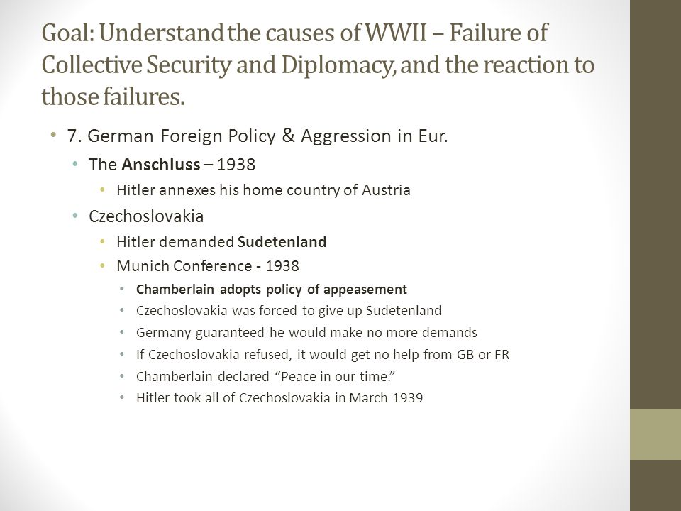 7.German Foreign Policy & Aggression in Eur.