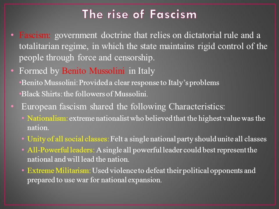 Hitler and Mussolini began taking aggressive step.