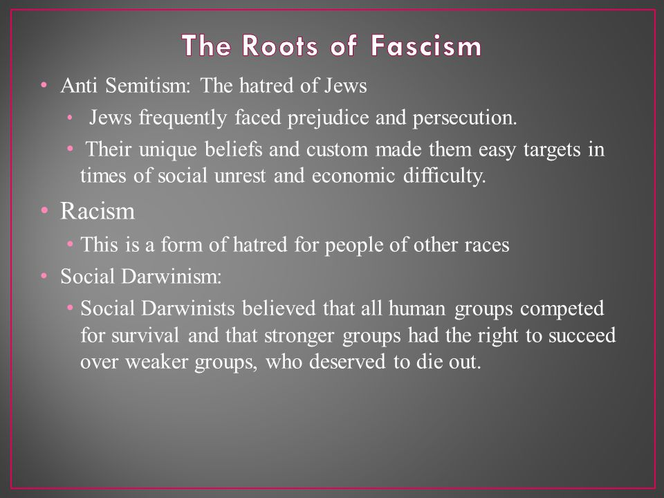 Anti Semitism: The hatred of Jews Jews frequently faced prejudice and persecution.