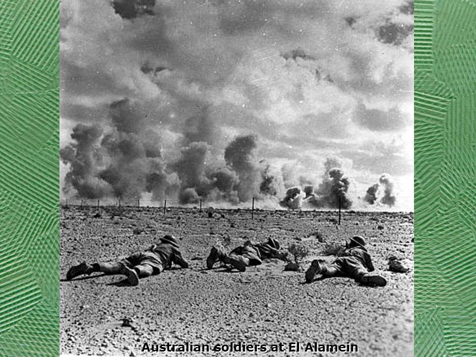 Australian soldiers at El Alamein
