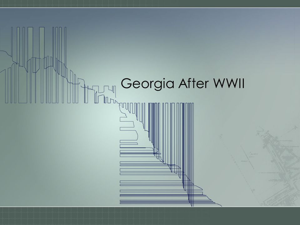 Georgia After WWII