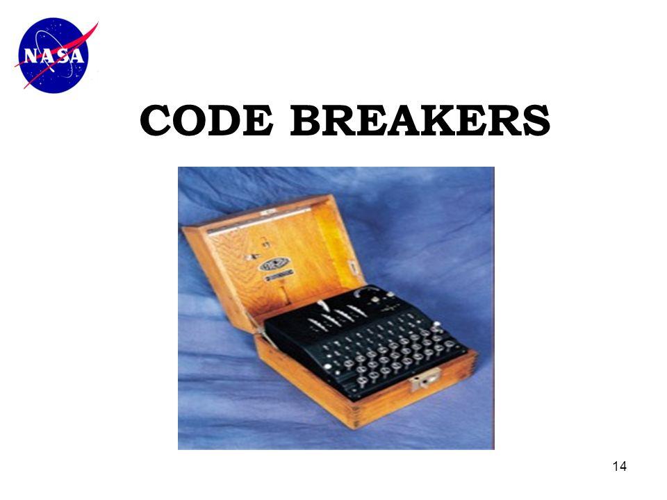 14 CODE BREAKERS
