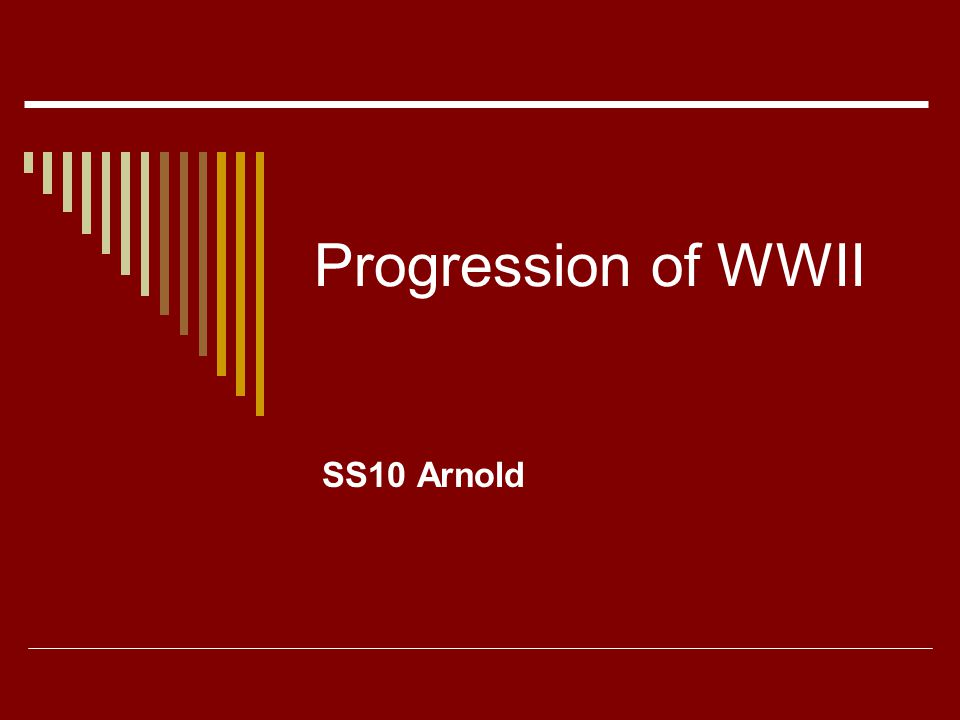 Progression of WWII SS10 Arnold