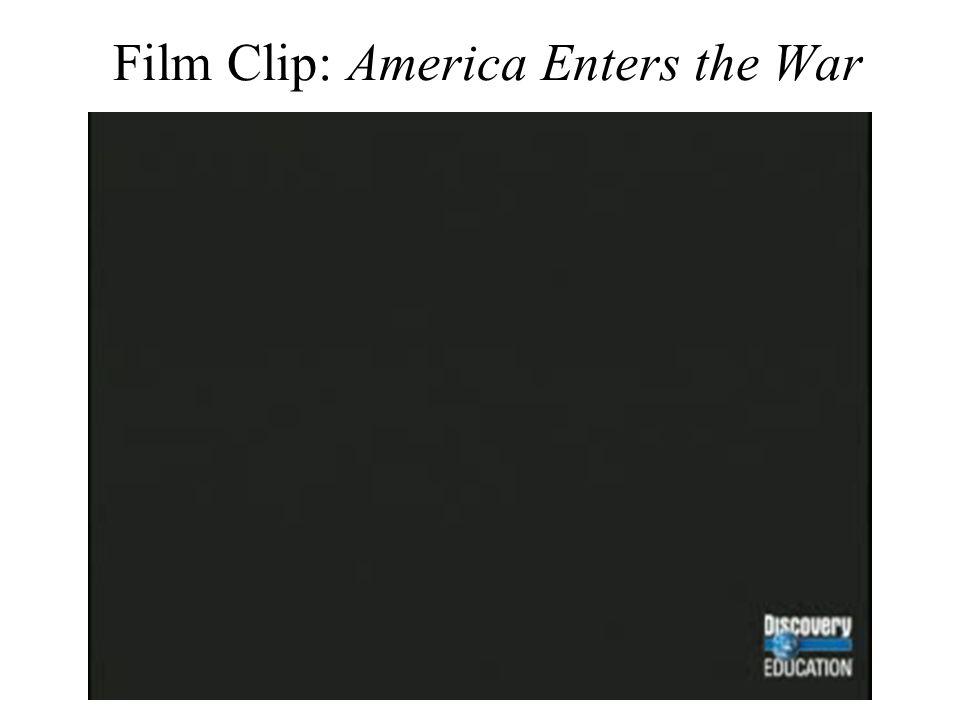 Film Clip: America Enters the War