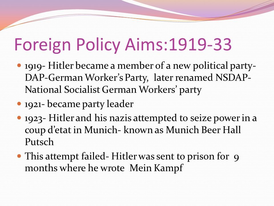 Mein Kampf a work on political theory Hitler announces his hatred of what he believed to be the world s twin evils: Communism and Judaism.