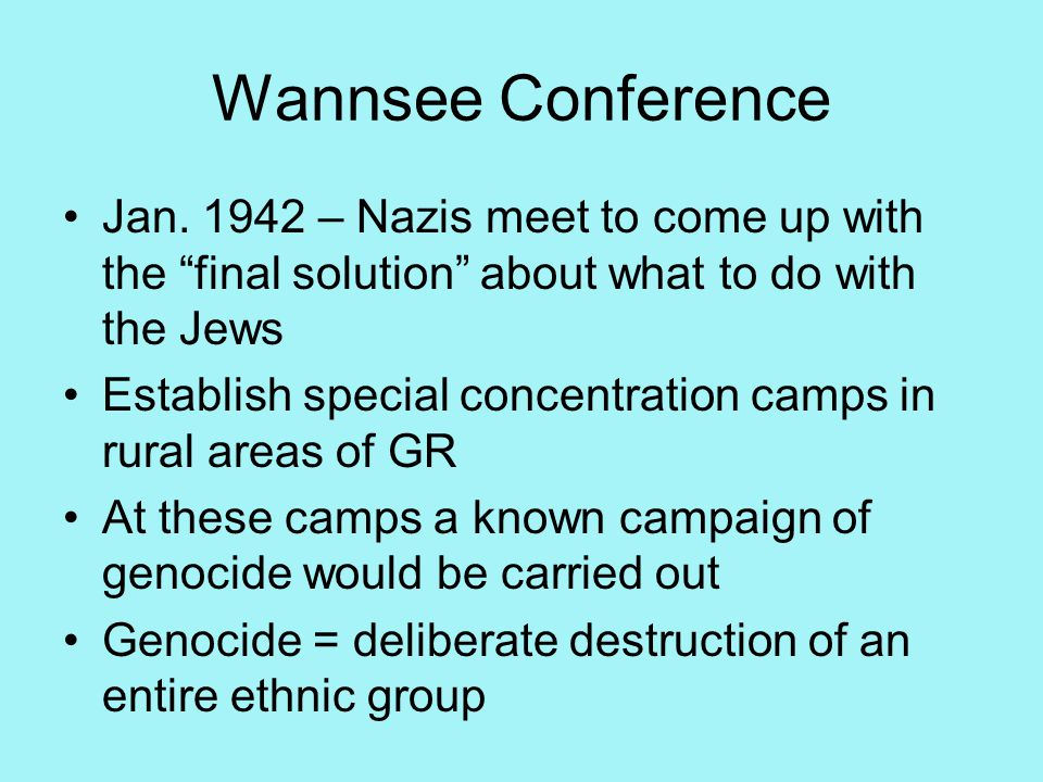 Wannsee Conference Jan.