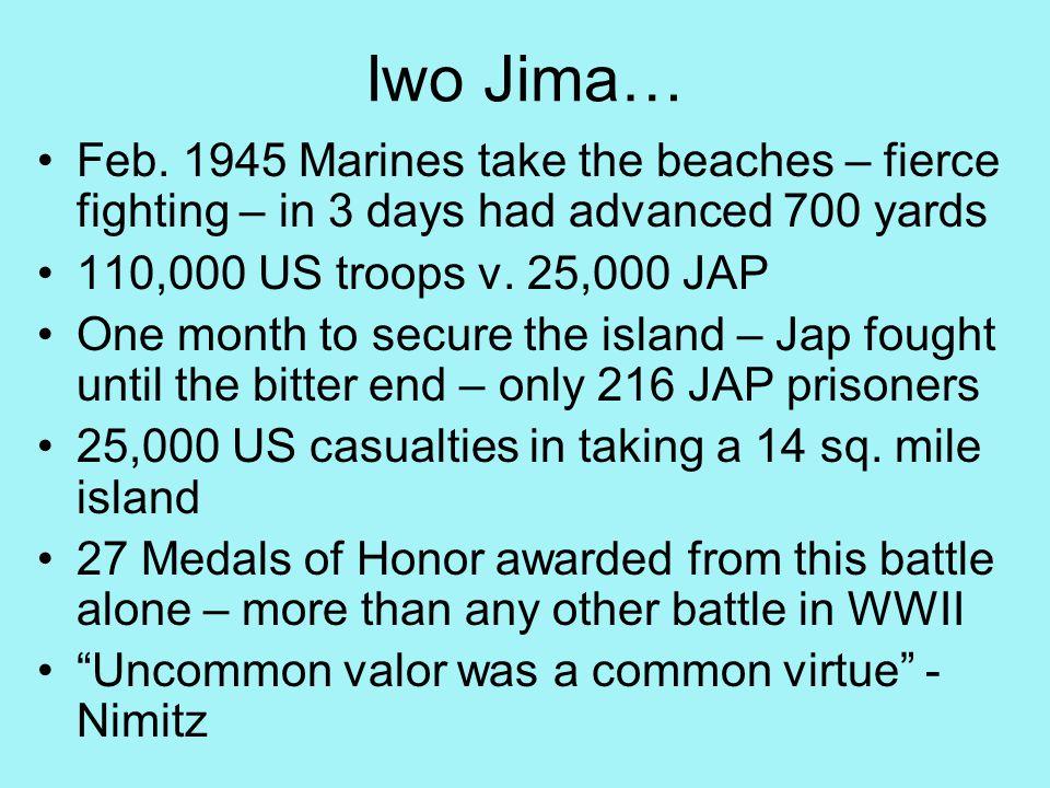 Iwo Jima… Feb.