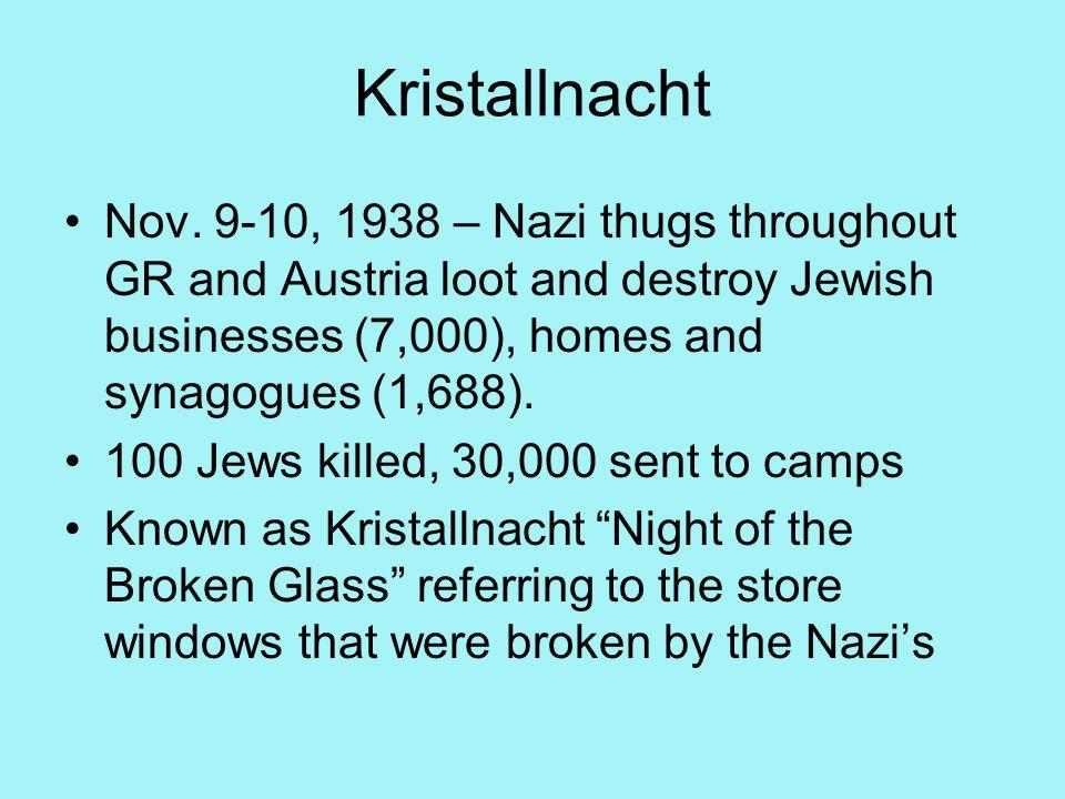 Kristallnacht Nov.