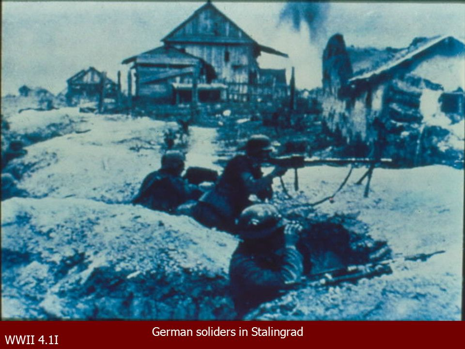 WWII 4.1I German soliders in Stalingrad