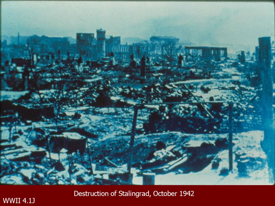 WWII 4.1J Destruction of Stalingrad, October 1942