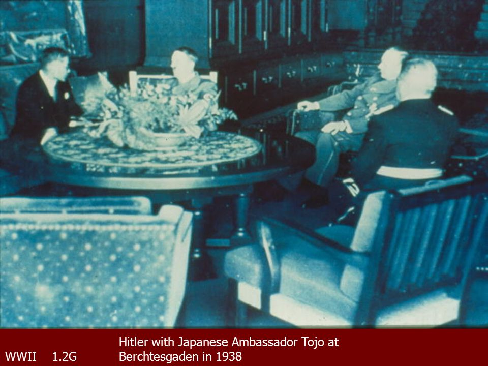 WWII 1.2G Hitler with Japanese Ambassador Tojo at Berchtesgaden in 1938