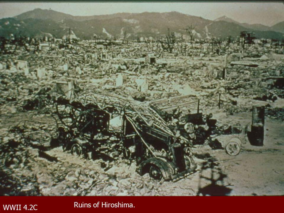 WWII 4.2C Ruins of Hiroshima.