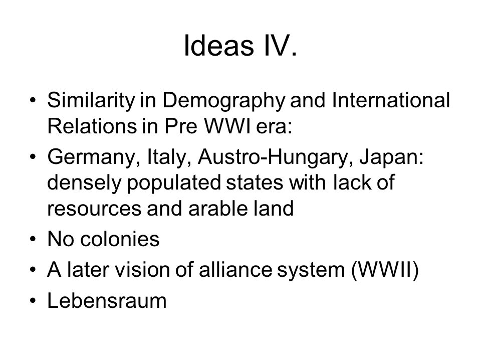 Ideas IV.