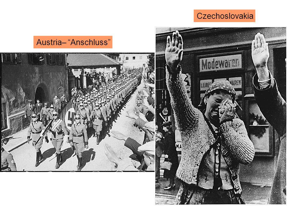 Czechoslovakia Austria– Anschluss