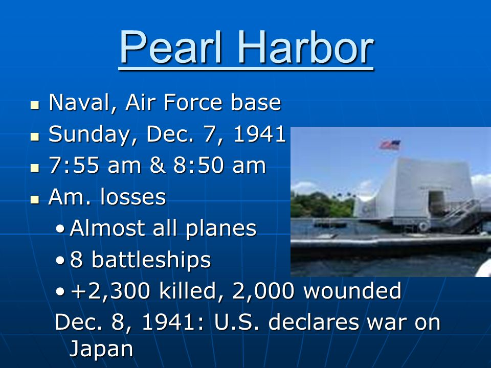 Pearl Harbor Naval, Air Force base Naval, Air Force base Sunday, Dec.
