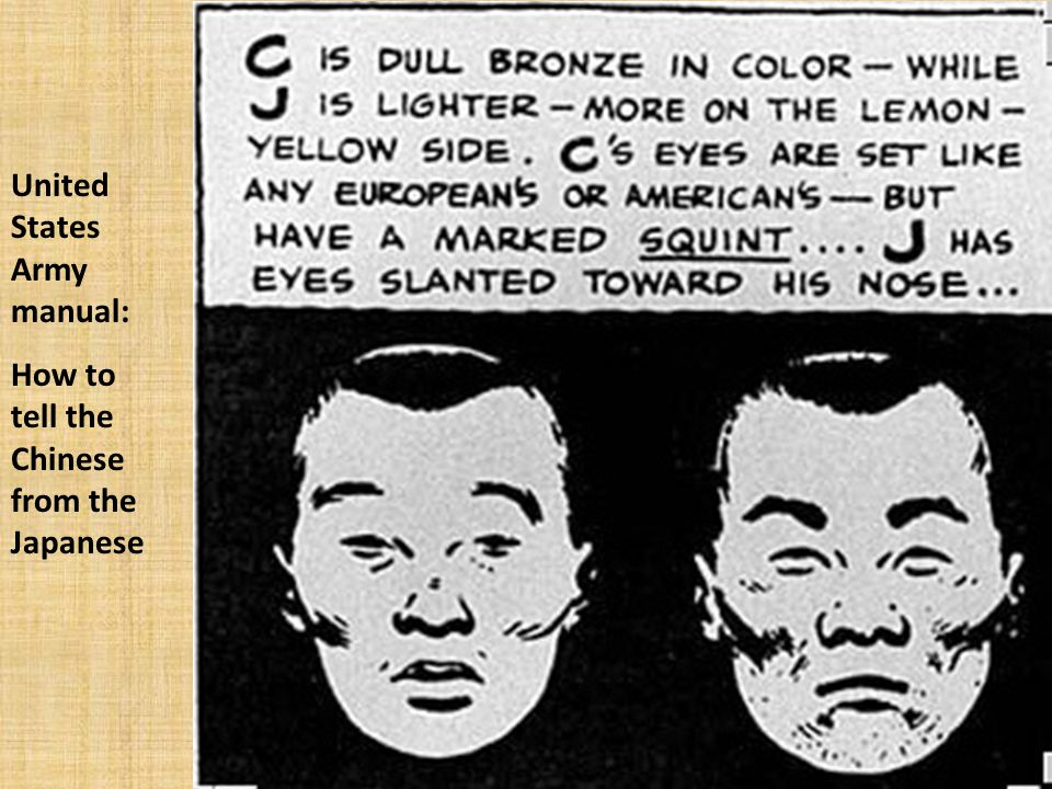 United States Army manual: How to tell the Chinese from the Japanese