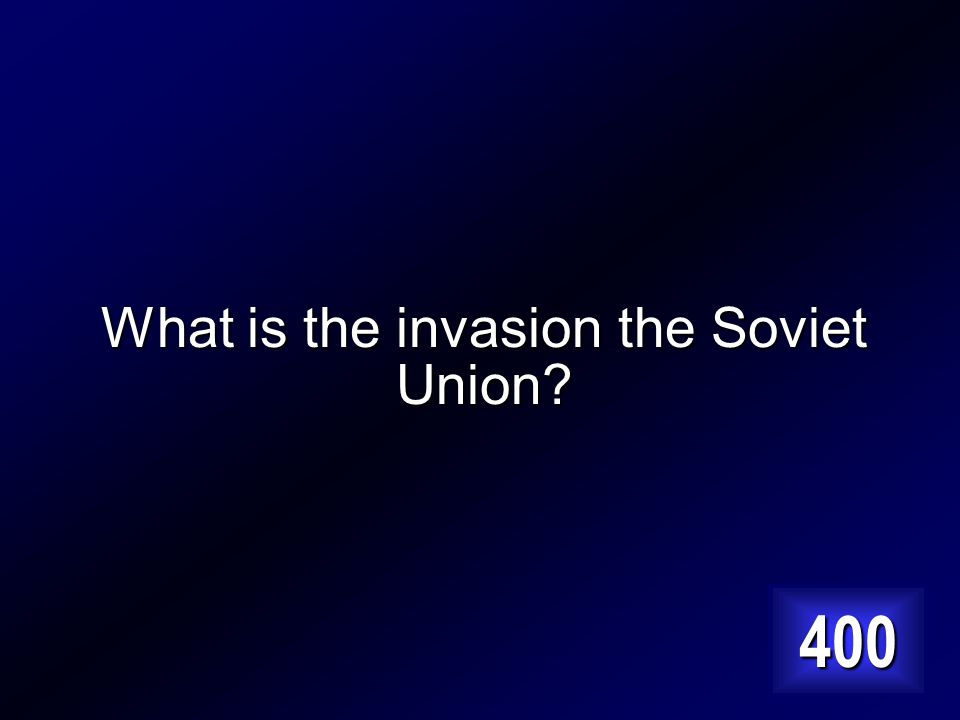 Hitler's final mistake which will lead to his defeat. Answer…