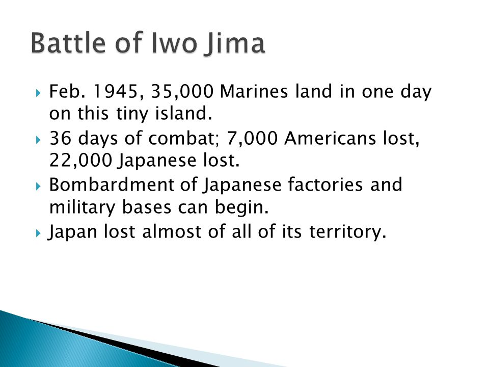  April of 1945, more than 180,000 Americans landed on this island.