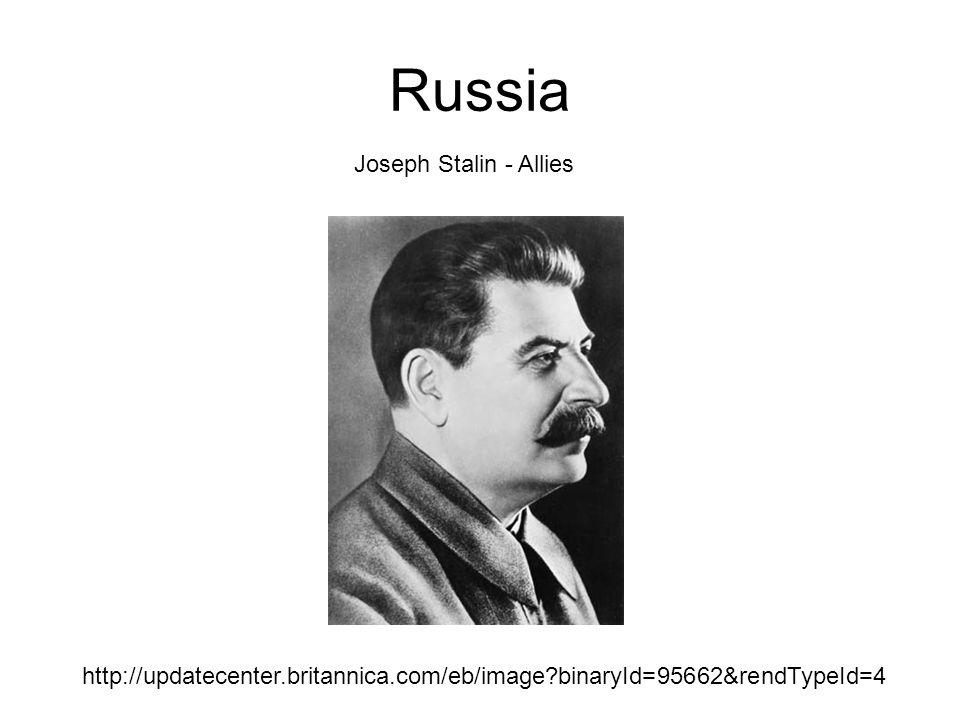 Russia http://updatecenter.britannica.com/eb/image binaryId=95662&rendTypeId=4 Joseph Stalin - Allies