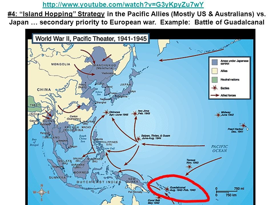 #4: Island Hopping Strategy in the Pacific Allies (Mostly US & Australians) vs.
