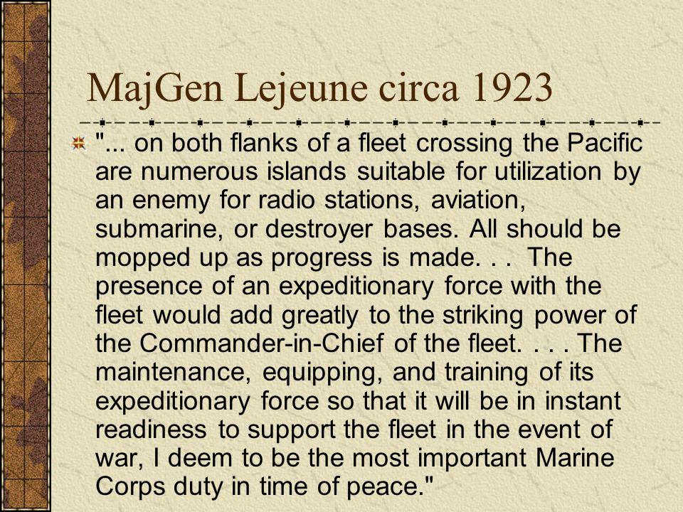 MajGen Lejeune circa 1923