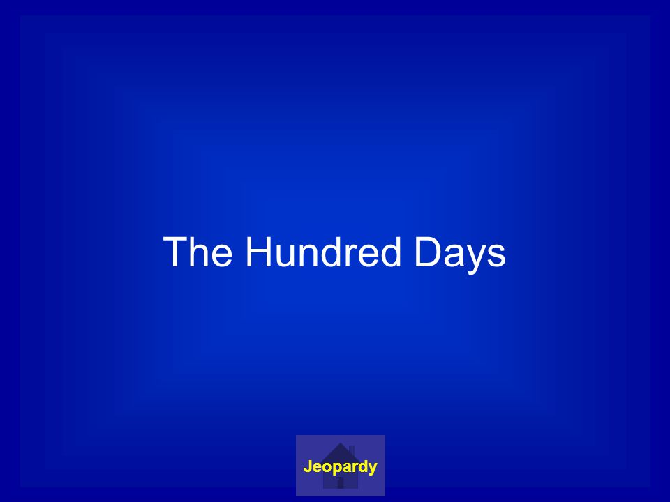 The Hundred Days Jeopardy