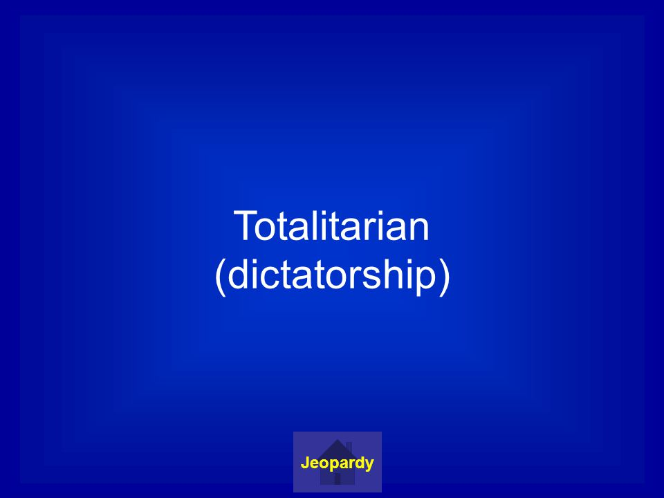 Totalitarian (dictatorship) Jeopardy