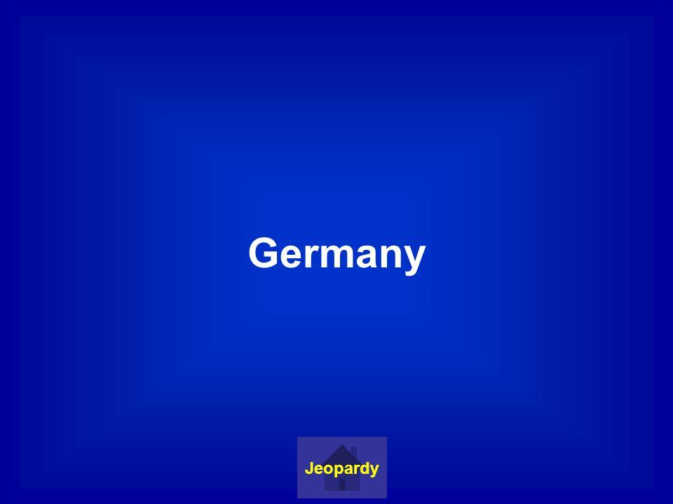 Germany Jeopardy