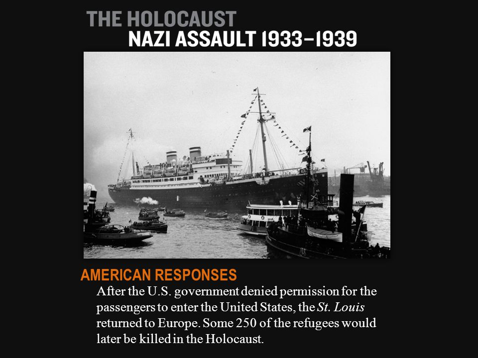 After the U.S. government denied permission for the passengers to enter the United States, the St.