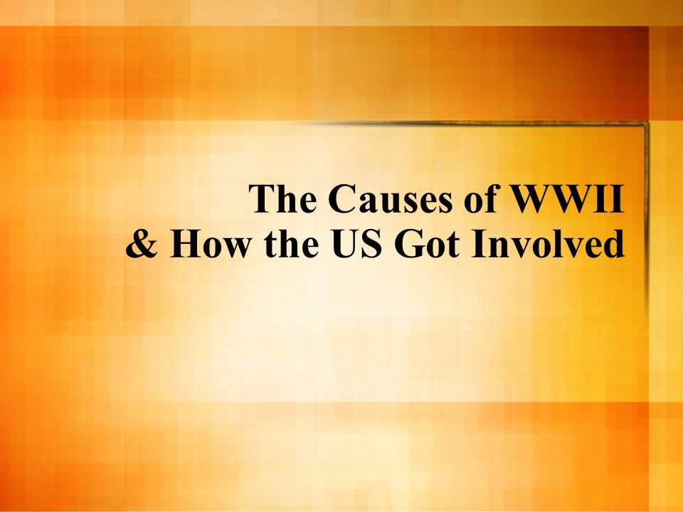 The big idea: WWII came directly from the aftermath of WWI Germany devastated by terms of Treaty of Versailles U.S.