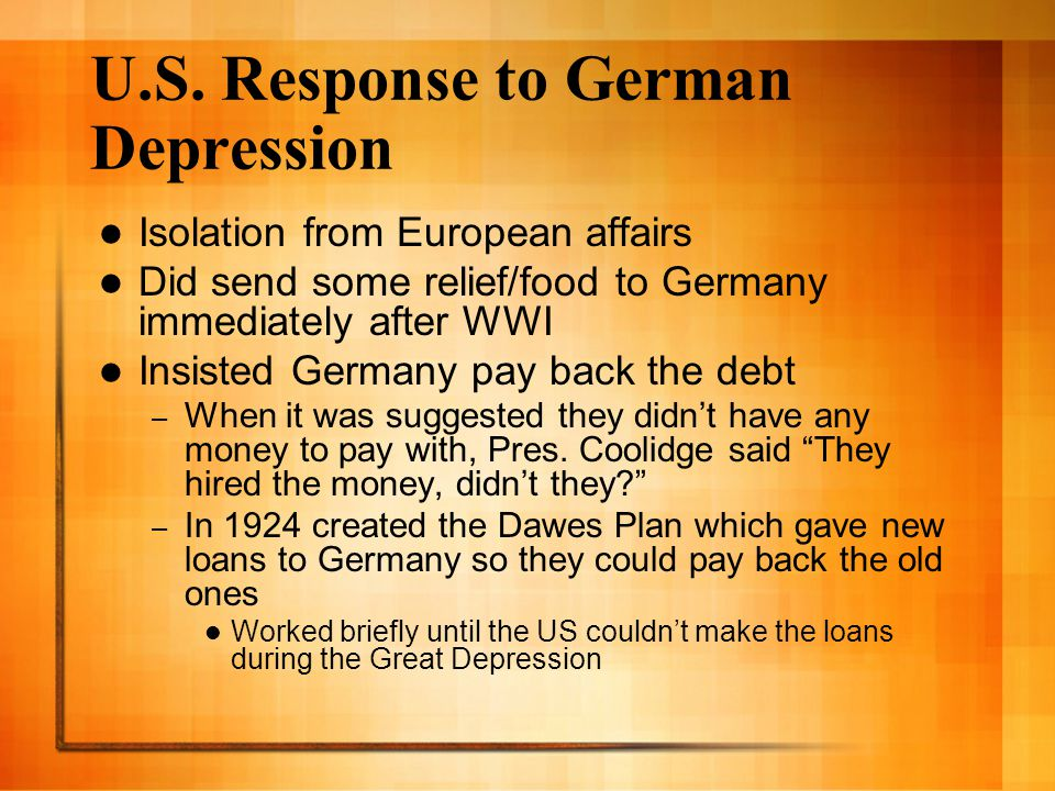 What signal did US action send to Germany?