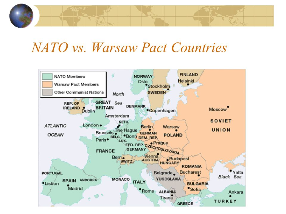 NATO vs. Warsaw Pact Countries