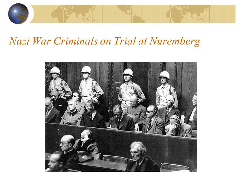 Nazi War Criminals on Trial at Nuremberg