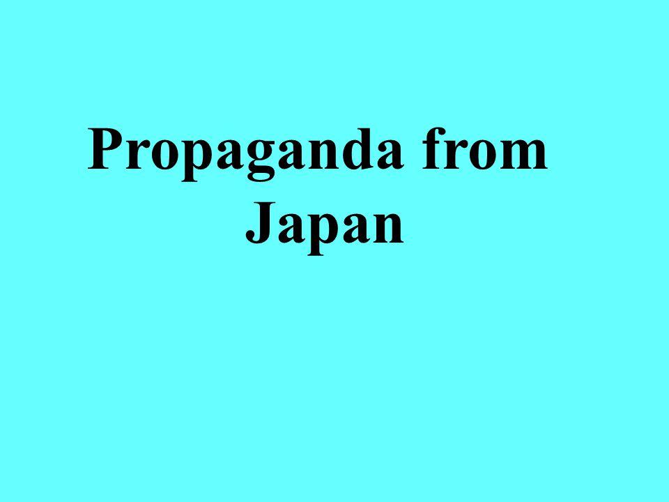 Propaganda from Japan