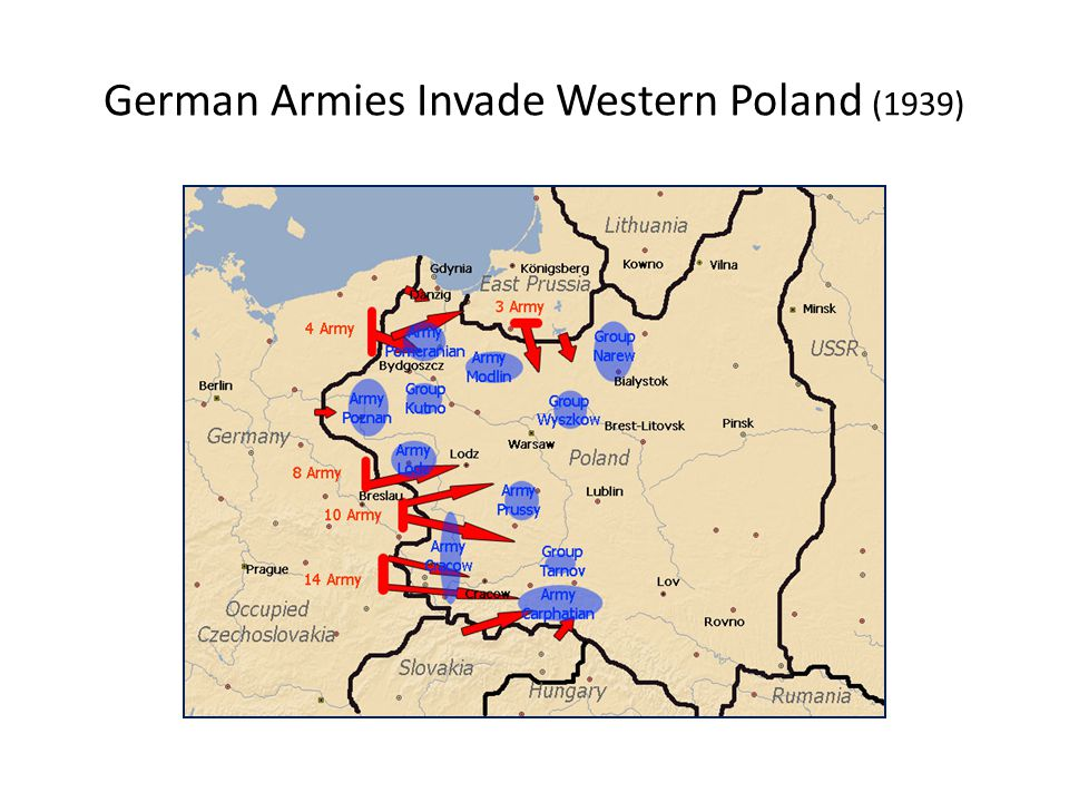 German Armies Invade Western Poland (1939)