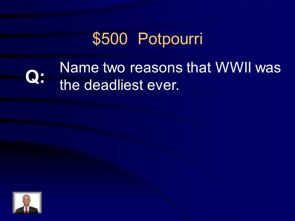$400 Potpourri R: Winston Churchill