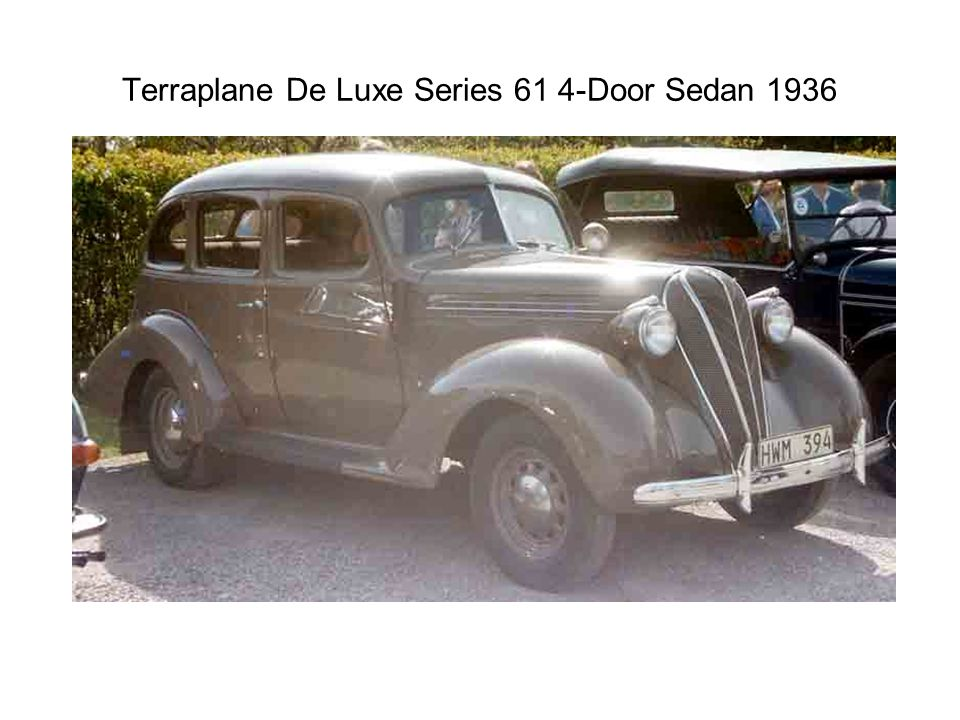 Terraplane De Luxe Series 61 4-Door Sedan 1936